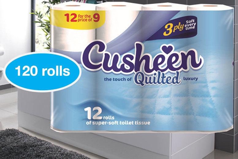 120 3ply Cusheen Toilet Roll & Free Gift (£29.99)