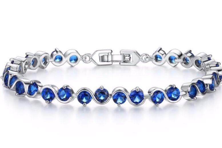 Blue Cubic Zirconia Bracelet