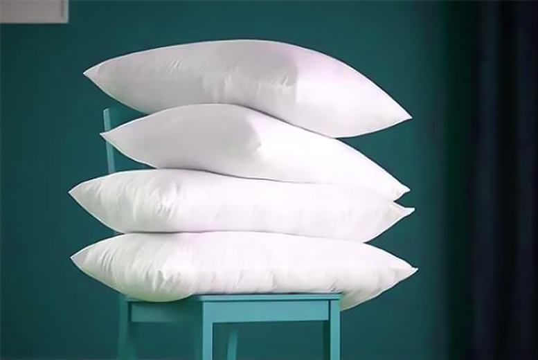 4 Luxury Goose Feather & Down Pillows