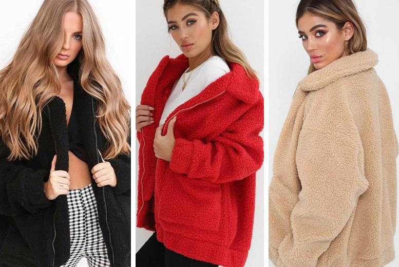 Teddy Style Coat - UK sizes 10-14 & 3 Colours!