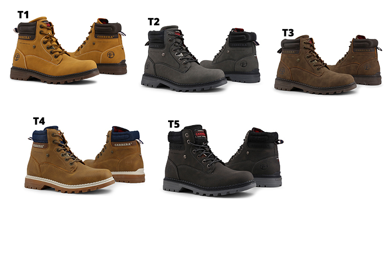 Men's Carrera Jeans Boots – 5 Colours & UK Sizes 6.5-11! for £23.99