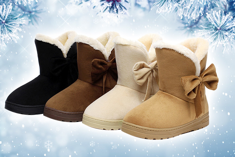 Faux Fur Lined Boots – 2 Colours & UK Sizes 3-8! for £9.99