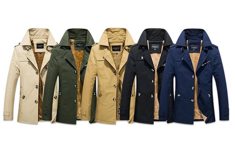 Men's Fleece-Lined Jacket - 5 Colours & 3 Sizes!