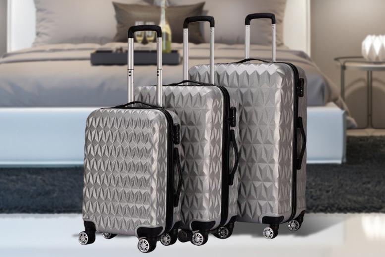 3pc Hardshell Monochrome Luggage Set – 2 Colours! for £79