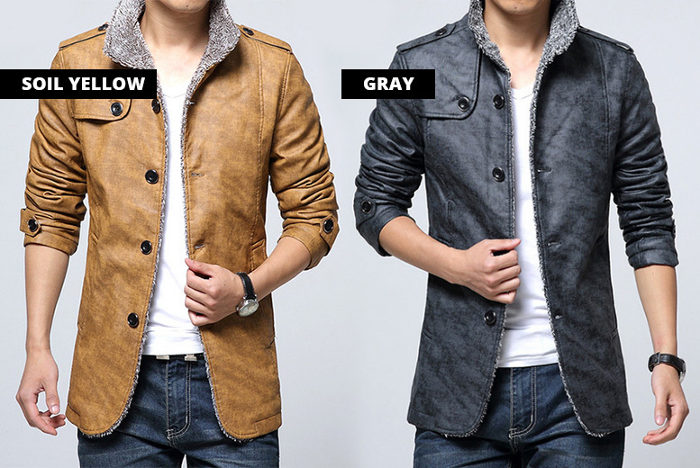 Men's Faux Leather Jacket – 5 Colours for £24.99