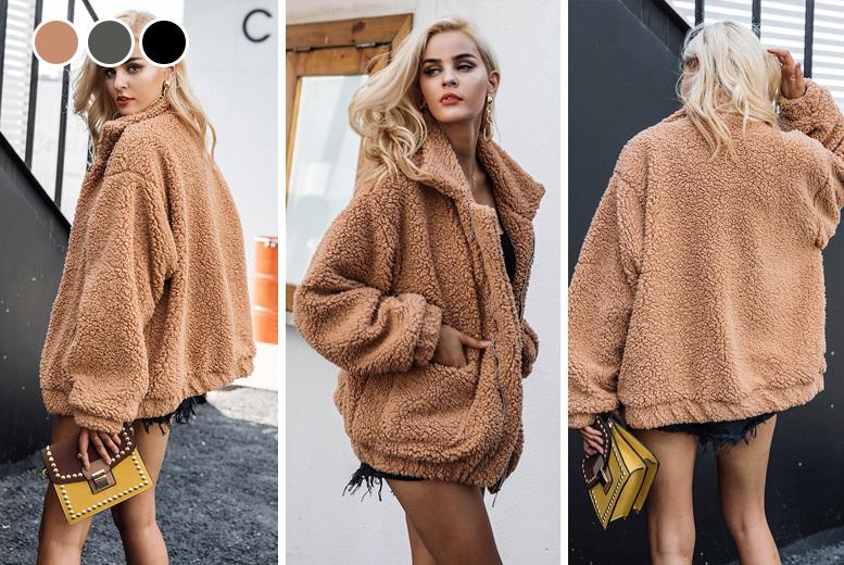 Teddy Style Jacket - UK sizes 10-16 & 3 Colours!