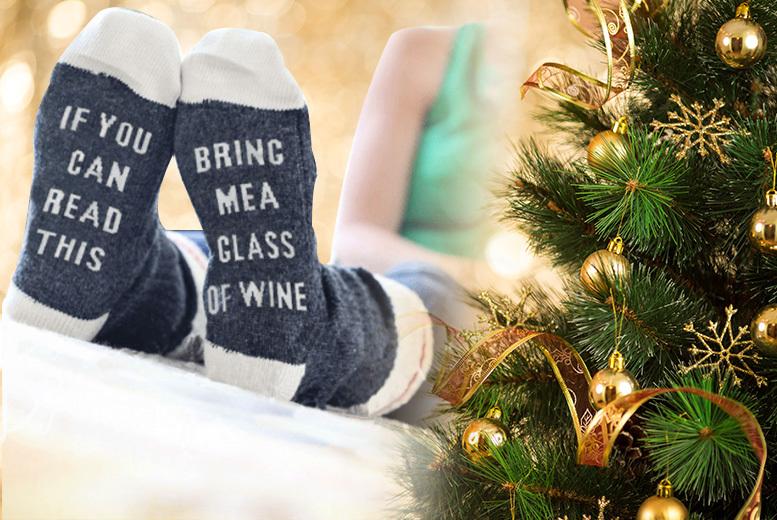 'Bring Me Wine' Socks