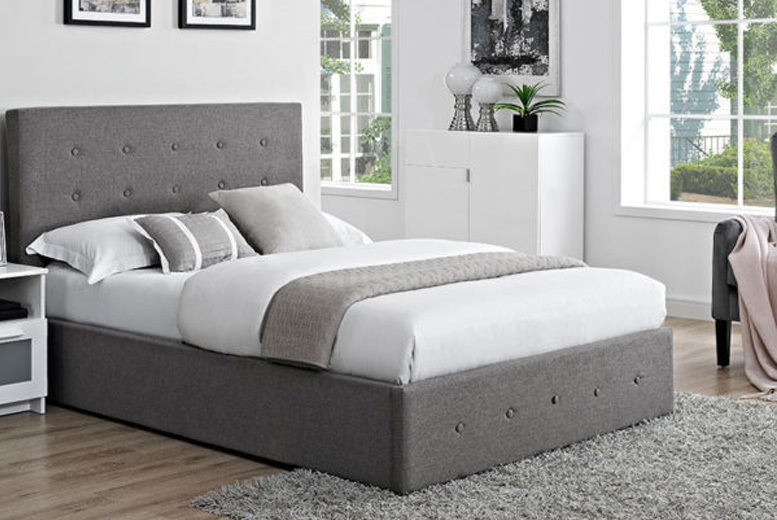 Verona Linen Fabric Bed w/ Optional Mattress - 2 Sizes!
