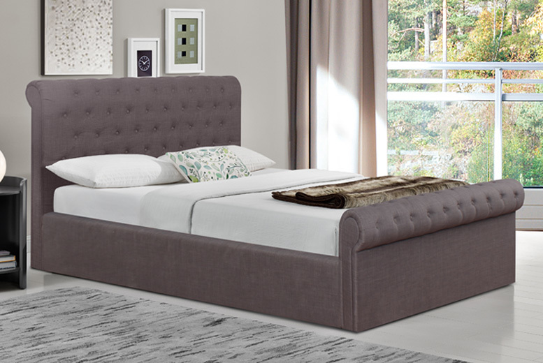 Fabric Ottoman Storage Bed with Mattress Options