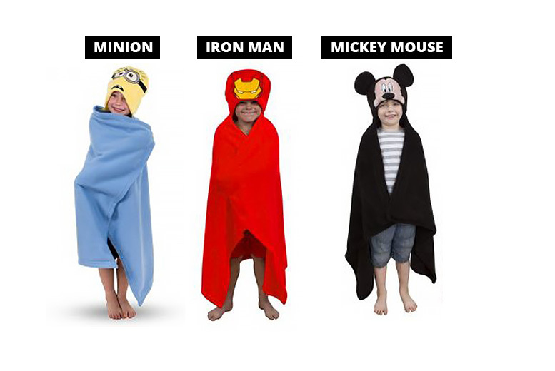 Boys' Hooded Cuddle Robe Blanket – 9 Designs