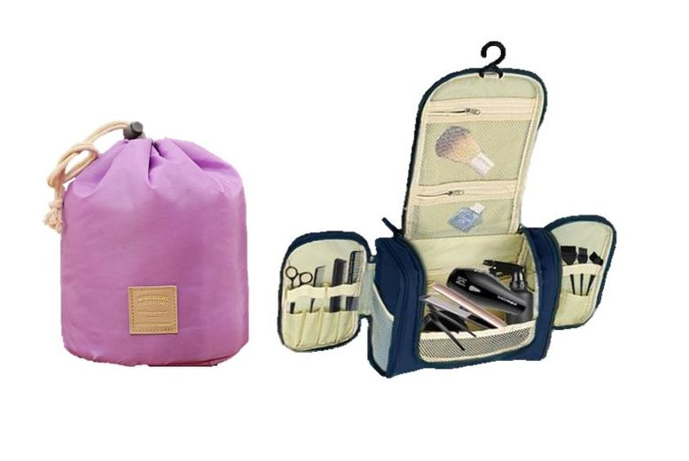 Travel Set or Beauty Organisers – 2 Types & 4 Colours! for £6.99