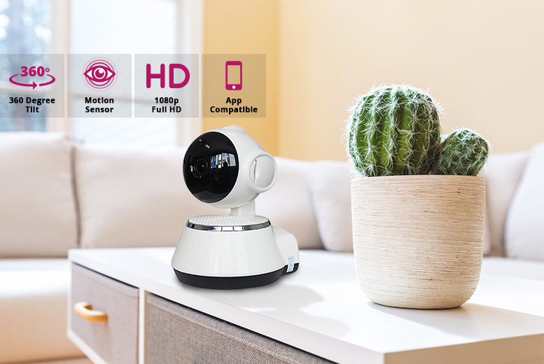 HD Home Security 360° Camera & Motion Sensor – Optional 16GB SD! from £19