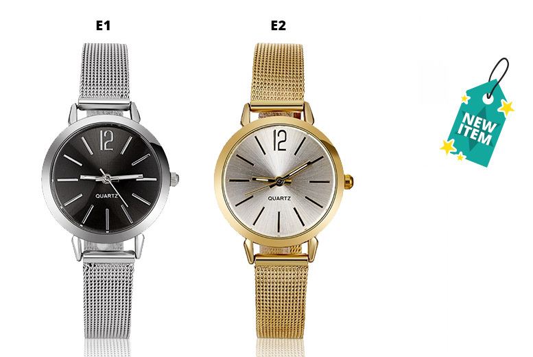 Esme Stainless Steel Mesh Strap Watch – 4 Colours!