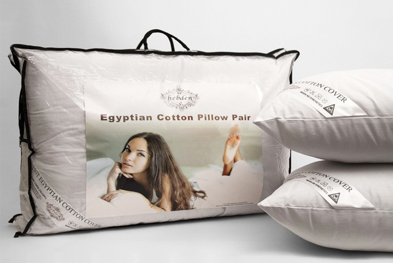 Two or Four Egyptian Cotton Pillows! from £12.99