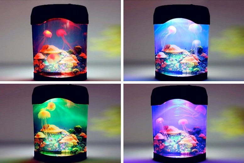 1 or 2 Colour-Changing Jellyfish Lamps