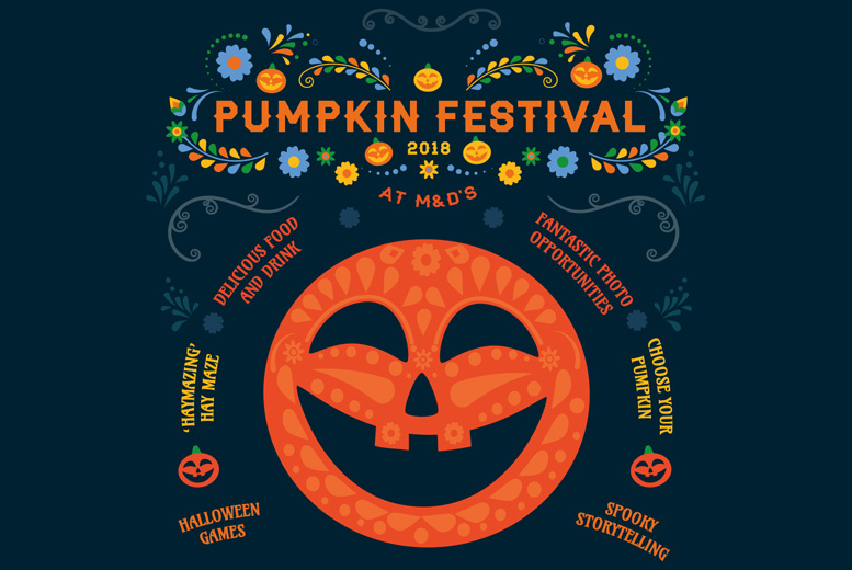 M&D's Pumpkin Festival Tkt for 2 - 'Unlimited' Rides & Amazonia Entry!