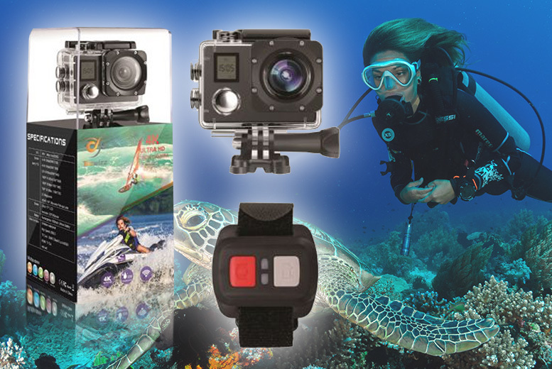 4K Ultra HD 20MP Wi-Fi Action Camera for £44.99