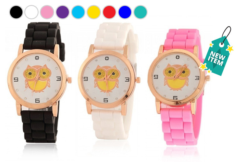 Kids' Silicone Owl Watch - 9 Colours!