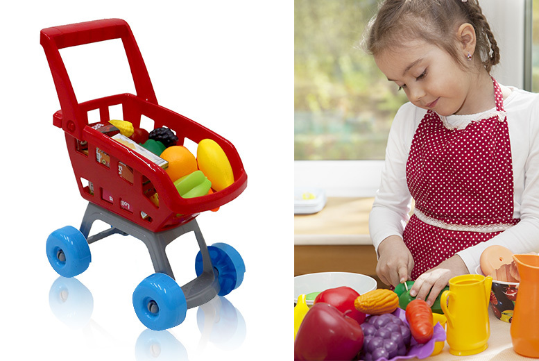 Children's Supermarket Trolley Toy Set for £9.99
