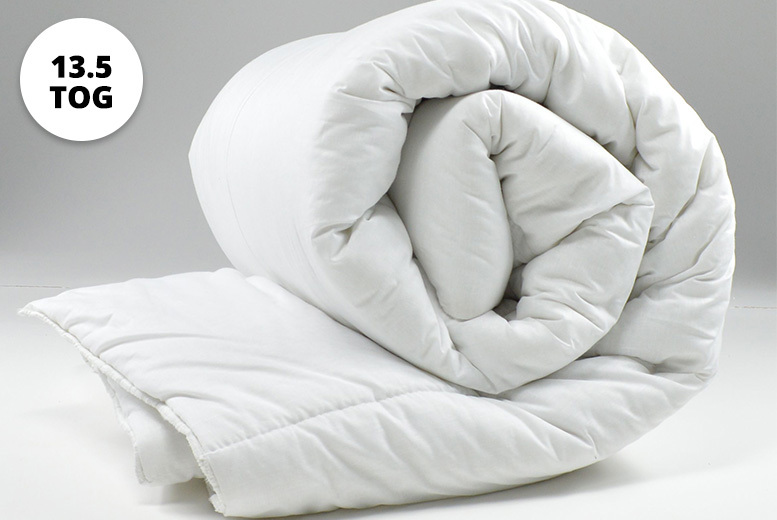 13.5 Tog Cotton Bounce Back Duvet – 4 Sizes! from £9.99