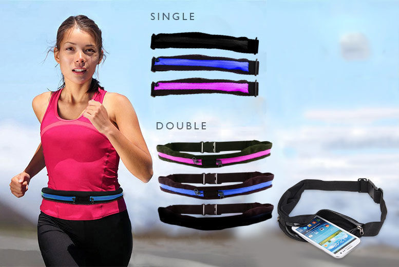 Zip Pocket Smartphone Running Belt – 3 Colours! from £3.99