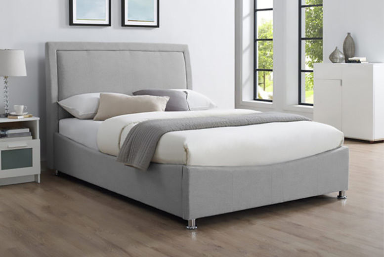 Emperor Grey Ottoman Storage Bed with optional mattress!