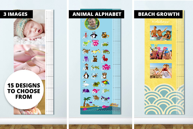 Personalised Kids' Growth Charts – 15 Designs! for £7