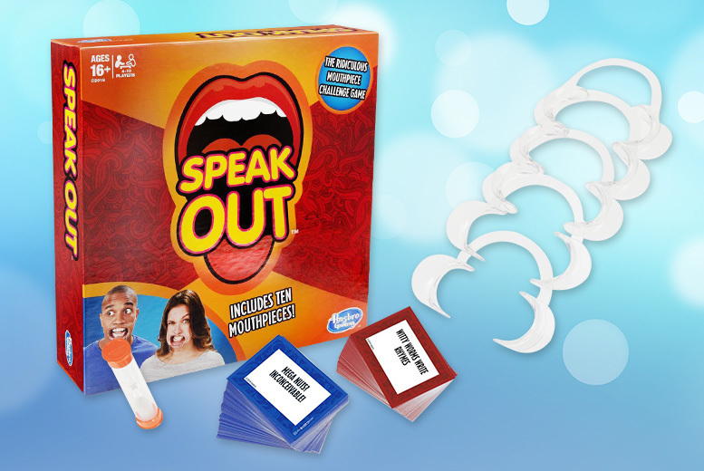 Hasbro Speak Out Board Game – 4-5 Players! for £9.99