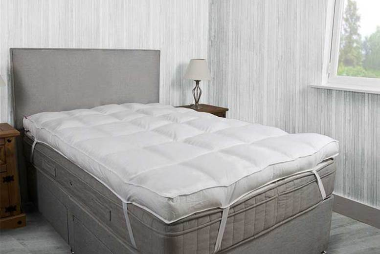 £19.99 (from Groundlevel) for a single 10cm thick microfibre single mattress topper, £24.99 for a double, £28.99 for a king or £30.99 for a superking