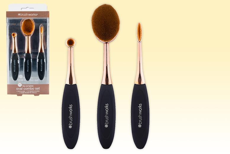 3pc Brushworks HD Oval Brush Set for £7