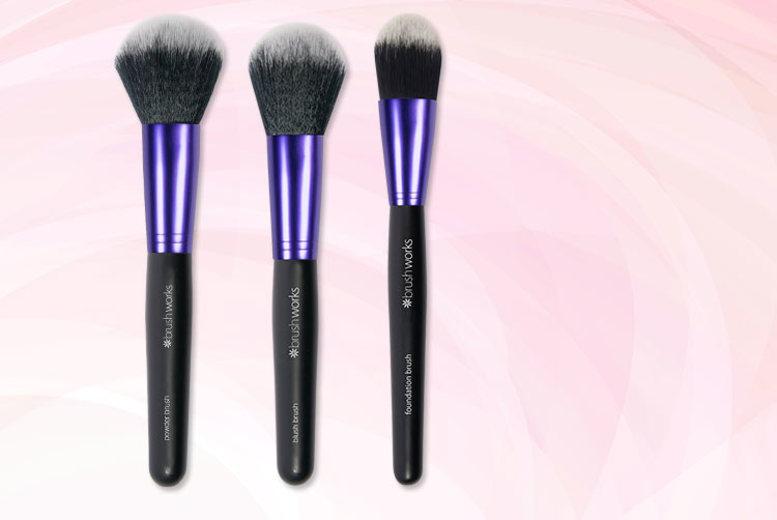 3 x Vegan Friendly Makeup Brushes for £6