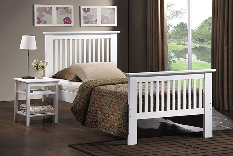 Howard Shaker Bed w/ Optional Mattress – 2 Sizes! from £89