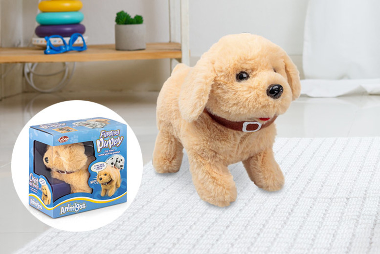 £8.99 instead of £17.96 (from Tobar) for an Animigos flipping puppy toy – save 50%