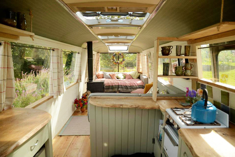 £169 (from Majestic Bus) for a two-night break for up to four people in a converted 1960s panoramic bus in Hay-on-Wye, Herefordshire