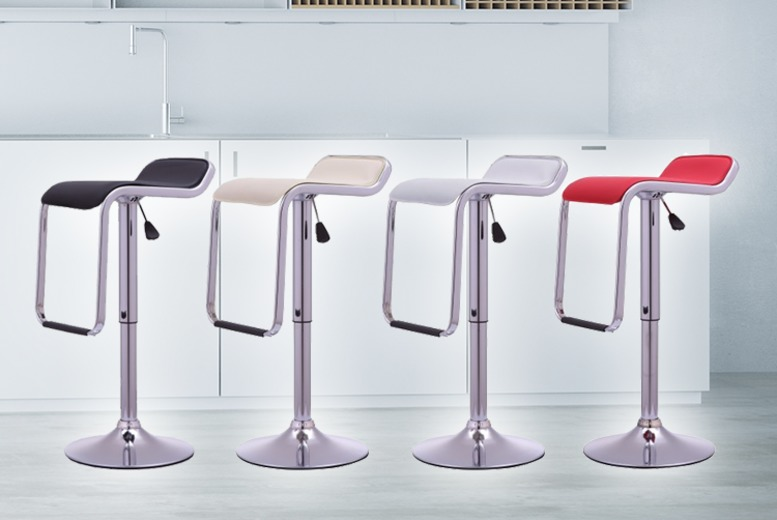 2 x Onyx II Kitchen Bar Stools – 4 Colours! for £49