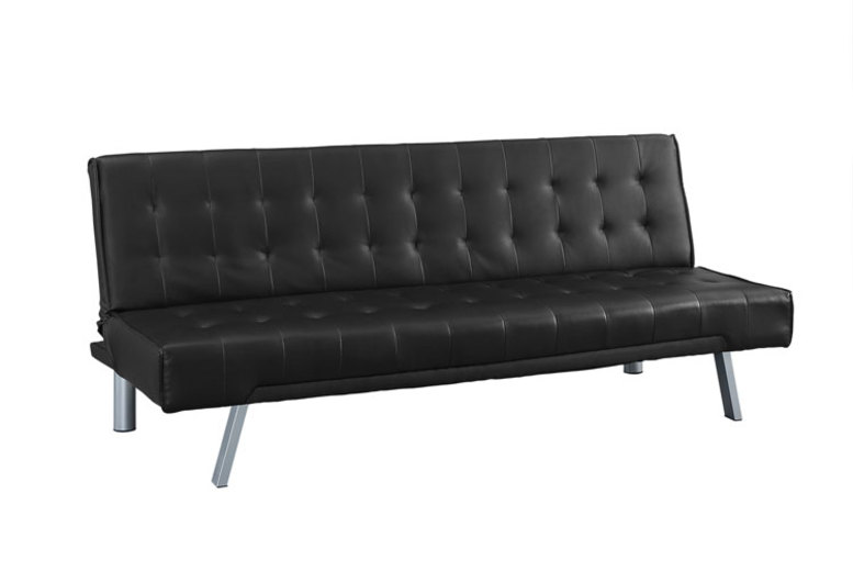 Three Seater Faux Leather Sofa Bed  2 Colours!