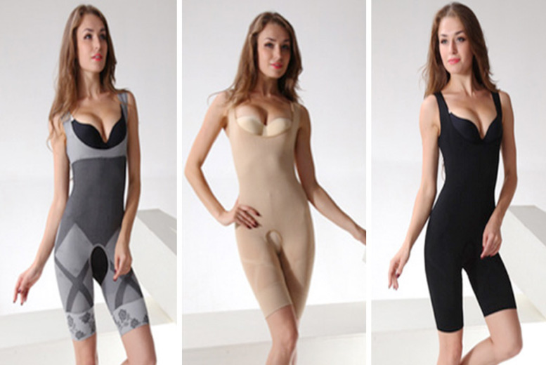 Bamboo One-Piece Shaper – 3 Colours & UK Sizes 8-16! for £7.99