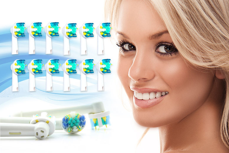 12 Oral B Compatible Floss Action Toothbrush Heads from £7