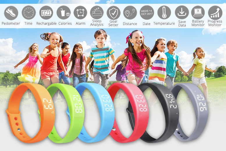 13-in-1 Kids' Smart Fitness Activity Watch – 6 Colours! for £10