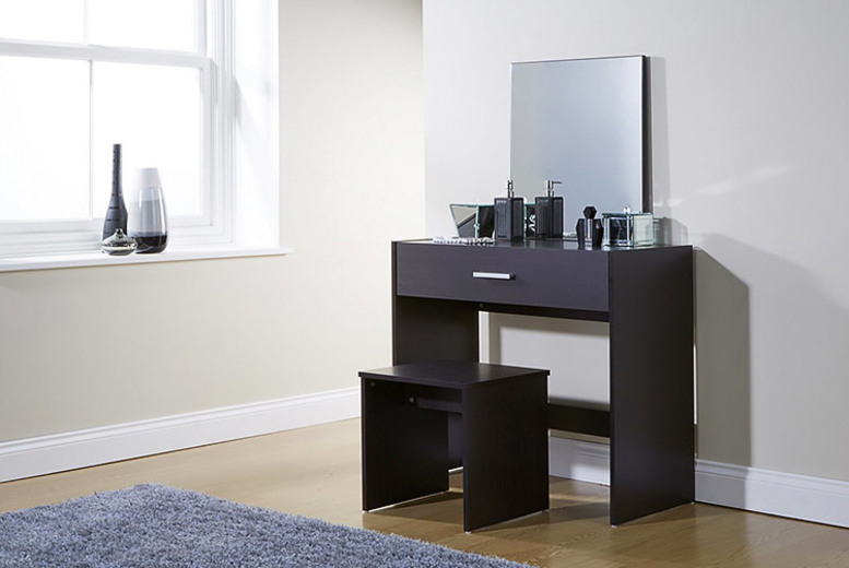 Julia Dressing Table with Stool and Mirror - 3 Colours!