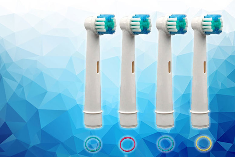 4 Oral BCompatible Toothbrush Heads