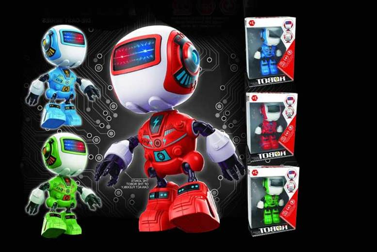 Kids LED Electric Metal Robot Toy - 3 Colours!