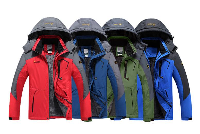 Men's Waterproof & Windproof Jacket – 7 Colours & Sizes L-5XL! for £24.99