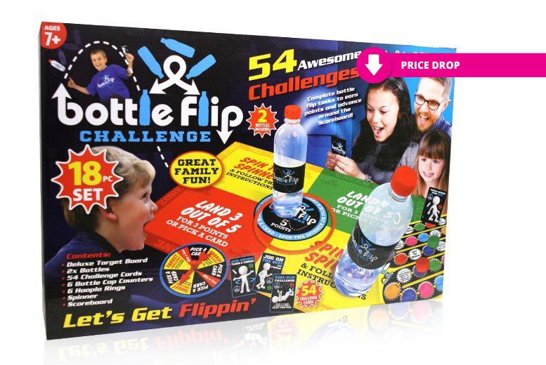 18pc Bottle Flip Challenge Set for £7.99