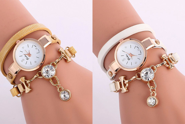Snake Wrap Drop Crystal Watch – 3 Colours! for £7.99