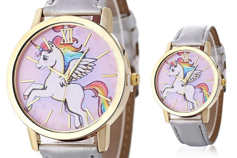 Rainbow Unicorn Watch – 2 Colours! for £3.99