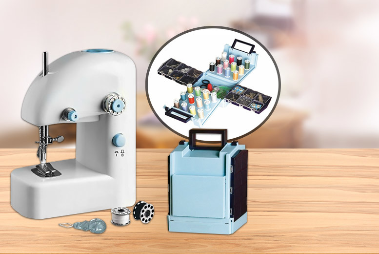 £9.99 instead of £25 (from Meadow Vale) for a portable sewing machine, or £14.99 for a portable sewing machine and sewing kit - save up to 60%