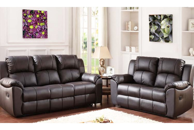 Reclining Leather Sofa Set For 599 Save 69 Daily Good Deals Up To 80 Off