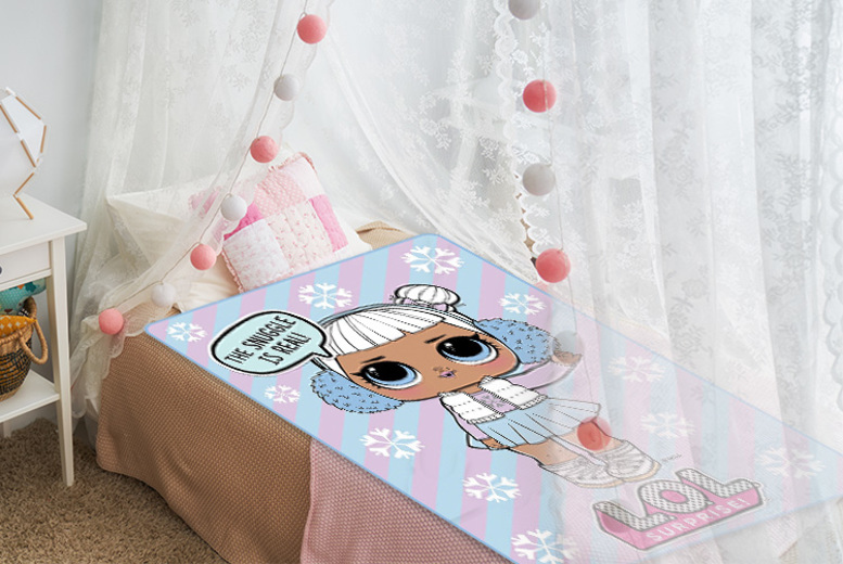 LOL Surprise Snow Angel Panel Fleece Blanket Throw for £8.99