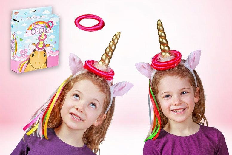 £6.99 instead of £18 (from Tobar) for a unicorn hoopla ring toss game – save 61%
